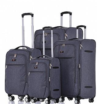 מודיעין Zurich סט מזוודות בד 4 יח' 32 | 28 | 24 | 19 אינטש SWISS -VOYAGER FX-25